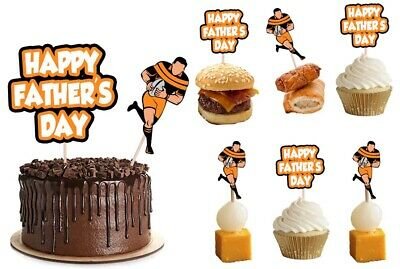 £4.99 • Buy Fathers Day Rugby Player Food Cupcake Picks Toppers Decorations Pack Of 14