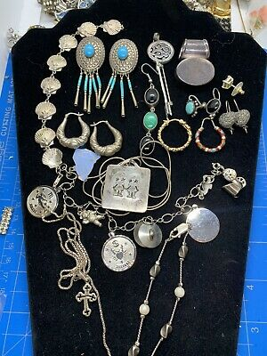 $ CDN122.69 • Buy Sterling Silver Jewelry Lot Craft And Wear Over 119 Grams