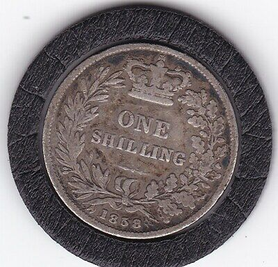 $6 • Buy 1858   Queen  Victoria  Sterling  Silver  Shilling  British Coin