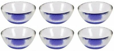 6X BEAUTIFUL Tea Light Candle Glass Vase Small Fish Bowl COBALT 8.5x3.5cm / 8cl • 4.37£
