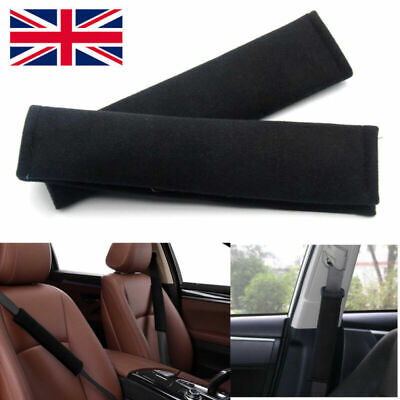 2 X Car Seat Belt Pads Harness Safety Shoulder Strap Back Pack Cushion Covers UK • 3.12£