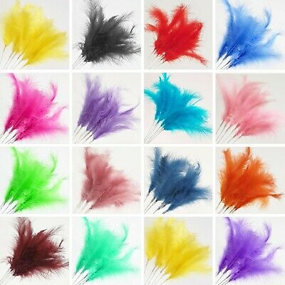 £3.25 • Buy 6 X FEATHER STEM SPRAYS Fascinator Cake Topper Florist Wired Craft Decoration