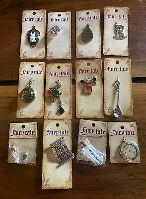 $25 • Buy Lot Of 12 Fairy Tale By Bead Treasures Charms - Alice In Wonderland - Free Ship