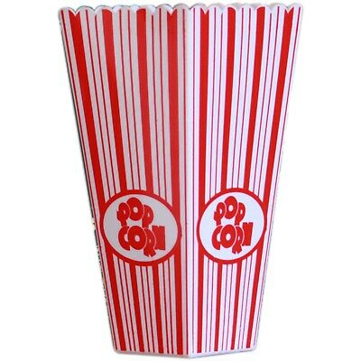 Retro Striped Cinema Design Striped Plastic Popcorn Holder Tub • 3.95£