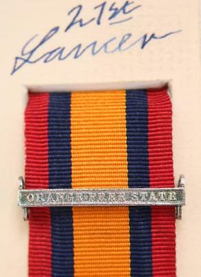 AU15.14 • Buy Qsa Queens South Africa Medal Ribbon Bar Clasp Orange Free State Boer War