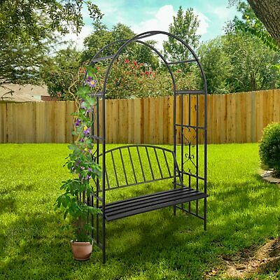 $83.99 • Buy Outdoor Arbor Arch With Bench Seat For Climbing Plant Wedding Garden Decoration