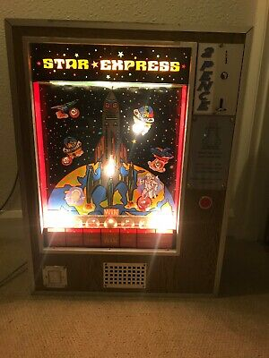 Vintage Rare Star Express Space Rocket Arcade Coin Operated Machine • 395£