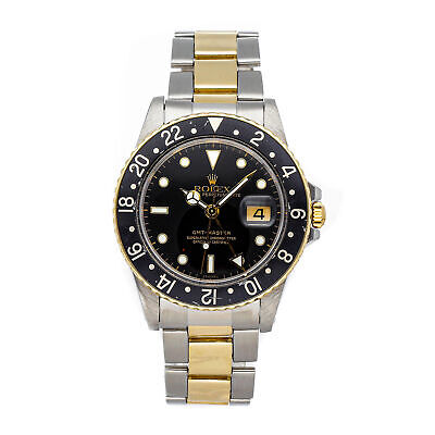$ CDN11430.55 • Buy Rolex GMT Master Auto Steel Yellow Gold Mens Oyster Bracelet Watch Date 16753