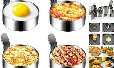 $19.17 • Buy Emoly Stainless Steel Egg Ring, 4 Pack 3 Inch Fried Egg Mold For Cooking Non