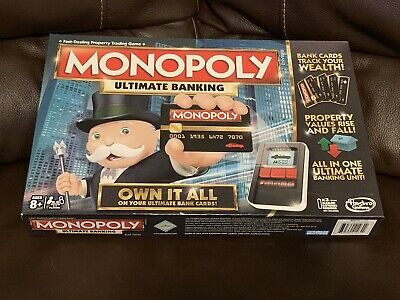 $25 • Buy Monopoly Ultimate Banking Edition Board Game Parker Bros Electronic Gameplay EUC