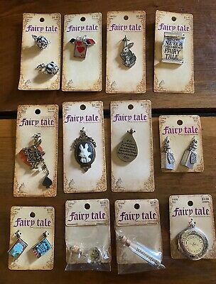 $44.95 • Buy Lot Of 12 Alice In Wonderland Theme Charms Fairy Tale By Bead Treasurers - NEW