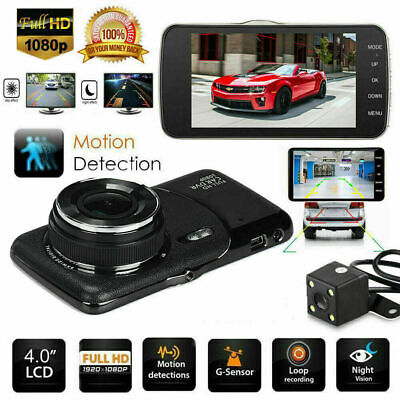 AU64.99 • Buy 1080P Dual Lens Car Front And Rear Camera DVR Dash Cam Video Recorder 4'' FHD