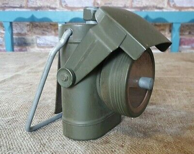 Vintage WW2 Era British Army Signalling Lamp Lantern 'Lamps Electric No 1', Prop • 24.50£