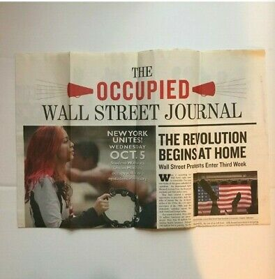 $19.99 • Buy OCCUPIED WALL STREET JOURNAL Issue #1 I Got This In From Zucotti Park SEPT 2011
