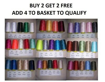 £4.95 • Buy Overlocking Thread  5000 Yard Cones Polyester - Industrial & Home Sewing Machine