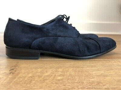 MORESCHI Mens Luxury Shoes - Navy Suede Size 7.5 EU/UK Made In Italy • 49.99£
