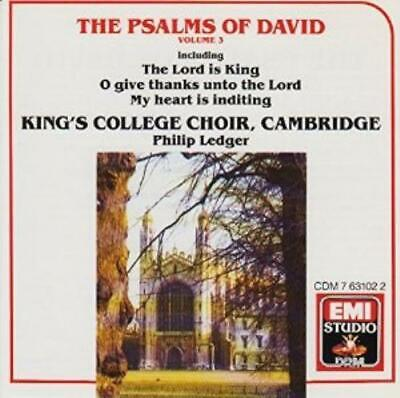 £3.48 • Buy Kings College Choir : The Psalms Of David, Vol. 3 CD FREE Shipping, Save £s