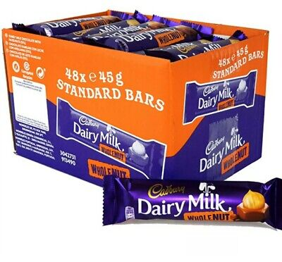 £18.99 • Buy Cadbury Dairy MILK WHOLE NUT STD 24 BARS.LONG DATE+TRACKING DELIVERY+SAME DAY DI