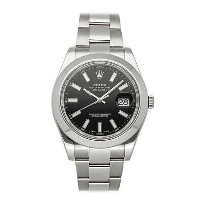 $ CDN8627.50 • Buy Rolex Datejust II Steel Auto 41mm Black Dial Oyster Bracelet Mens Watch 116300