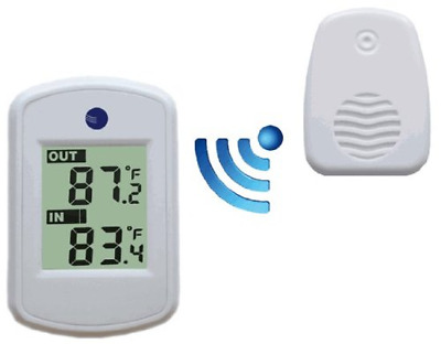 $23.16 • Buy Wireless Thermometer With Indoor And Outdoor Temperature Synchronized White