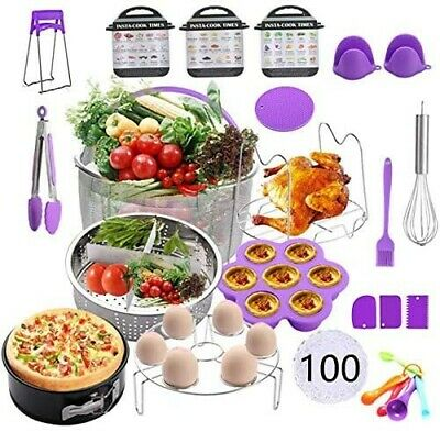 $45.45 • Buy New 121 Pieces Non-stick Quart Pressure Cooker Instant Pot Accessories Kit Set