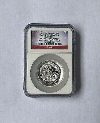 $499.99 • Buy 2012 Australia Lunar Year Of The Dragon High Relief 1 Oz Silver Ngc Pf70 Uc 500