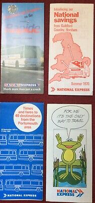 UK COACH - 4 X NATIONAL EXPRESS LEAFLETS • 0.99£