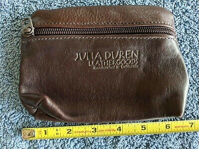 $35 • Buy Vintage Julia Duren Brown Coin Purse Leather - 6.5  X 4.5  X 1.5  - Made In USA