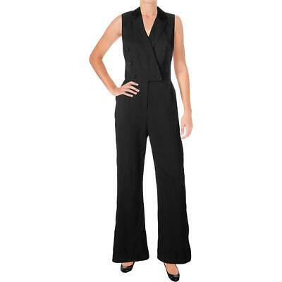 $19.20 • Buy Adelyn Rae Womens Tuxedo Black Special Occasion Night Out Jumpsuit XS BHFO 8704