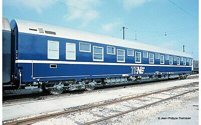 AU237.48 • Buy Jouef HJ4131 Railway Carriage Bed SNCF Livery Ten Blue Band White, Roof Aluminum