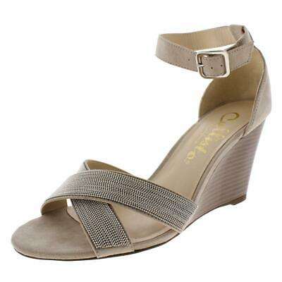 $13.49 • Buy Callisto Of California Womens Montana Taupe Wedge Sandals 5 Medium (B,M) 5051