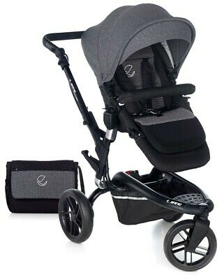 View Details New Jane Trider In Jet Black Colour Pushchair Including Pram Bag And Rain Cover • 440.00£
