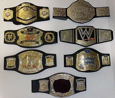 $39.99 • Buy Huge Lot Of 7 Kids Toy Repica WWE WWF Championship Belts Hardcore Tag Team Set