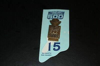 $9.99 • Buy 1986 Indy 500 Bronze Pit Badge With Back Up Card, #U960