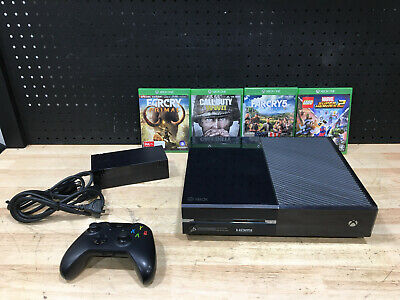AU299 • Buy Xbox One Console 1540 500gb + Controller + Cords + 4 Games *tested Works Great