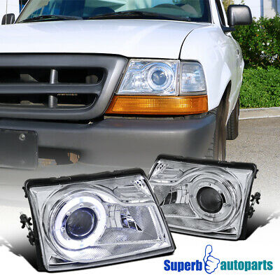 $93.98 • Buy For 1998-2000 Ford Ranger Projector Headlights W/ Halo Ring Pair