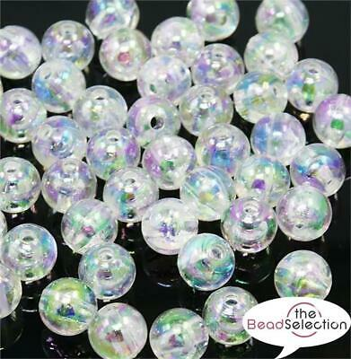 £2.59 • Buy CLEAR 'AB' RAINBOW LUSTRE ROUND ACRYLIC BEADS 6mm 150 Per Bag TOP QUALITY ACR11