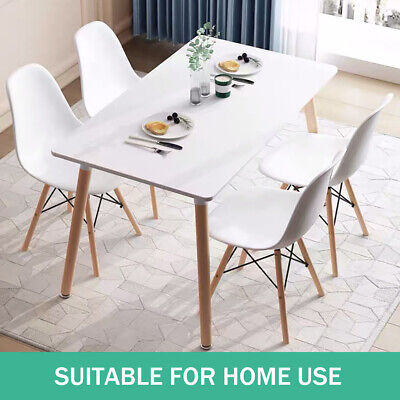 AU175.99 • Buy 4-6 Seater Dining Table Replica DSW Eiffel Tables Kitchen Wooden Square White AU