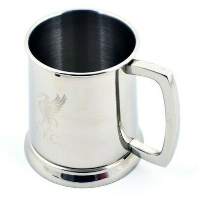 £19.99 • Buy Liverpool FC Glass Base Stainless Steel Pint Tankard LFC Gift Boxed Brand New