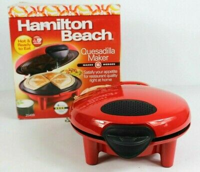 $26.25 • Buy Hamilton Beach Red Quesadilla Maker Cooks In 5 Minutes 6 Wedge Electric Nonstick