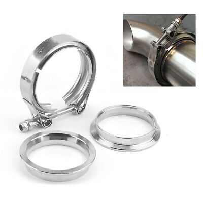 $ CDN34.73 • Buy 2 '' V-Band Clamp For Turbo Exhaust Downpipes Intercooler Pipe Stainless Steel
