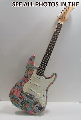 $320 • Buy NobleSpirit (TT) UNIQUE One Of A Kind HAND CRAFTED Philatelic Electric Guitar