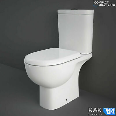£152.90 • Buy RAK Modern Tonique Compact 425mm Height Disabled WC Toilet & Soft Close Seat