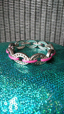 $ CDN25.27 • Buy 💎Lot Of 2! LIA SOPHIA Bangle Bracelets ~ Silver W/pink & Gold W/aqua ~ NEW!!