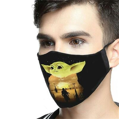 $21.61 • Buy Baby Yoda Pattern Face Mask Washable 100 Cotton US Gift For Dad Printed In US