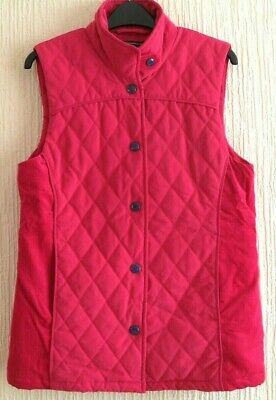 £29 • Buy Jack Murphy  Shauna  Floral Lined Quilted Gilet - Fuchsia Pink- Size 10