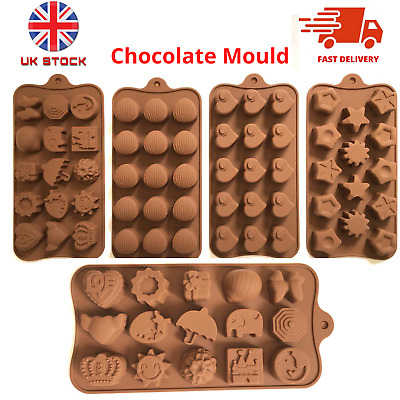 Silicone Chocolate Mould Cake Hearts Decorating Mold Birthday Topper Fondant UK • 2.78£