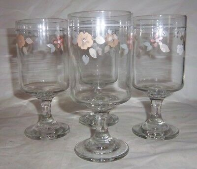 $6.99 • Buy Set Of 4 Discontinued Pfaltzgraff Wyndham 10 Ounce Water Tea Goblets VERY NICE