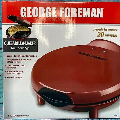 $38.86 • Buy George Foreman Taco Tuesday Electric Quesadilla Maker, Red, 6 Servings # GFQ001