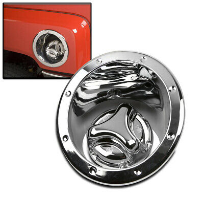 $57.95 • Buy 06-10 Hummer H3 Gas Tank Covers Fuel Door Bezel Cap Moulding Trim Chrome New Set